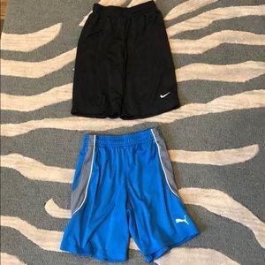 Lot of 2 boys shorts Nike/Puma size 7/xs
